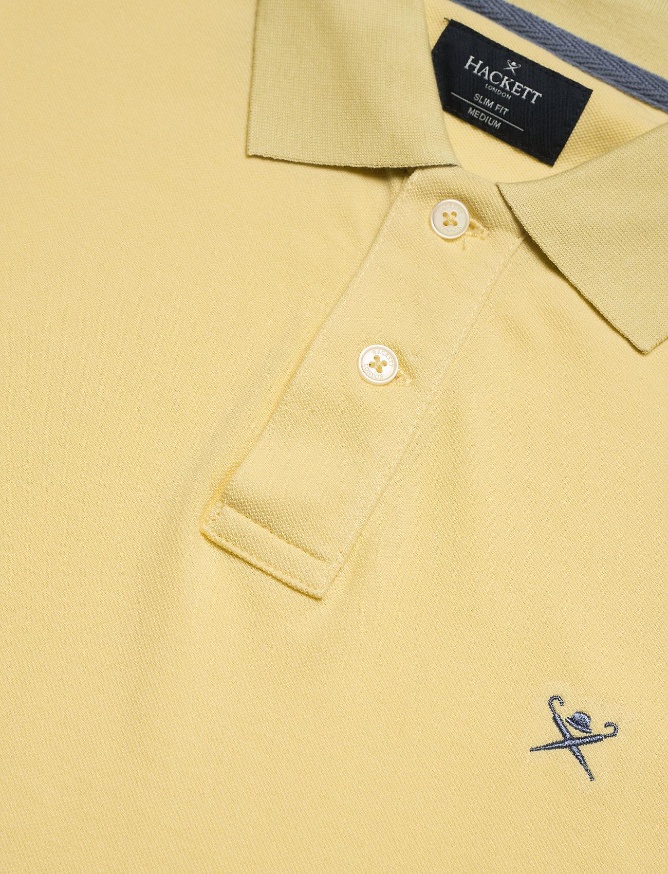 Hackett London SLIM FIT LOGO - Poloskjorter 001PASTEL LEMON - Menn Klær