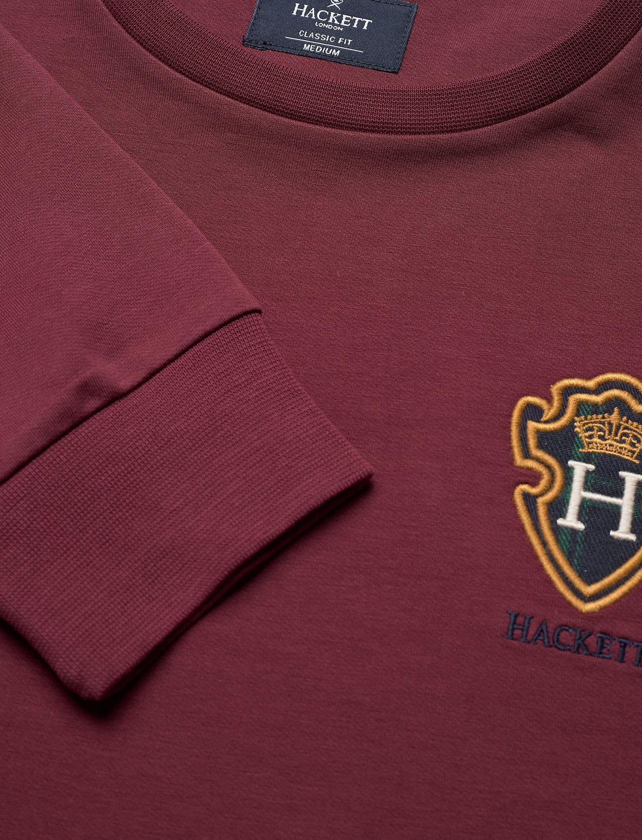 Hackett London BLACKWATCH CREW - Sweatshirts OXBLOOD - Menn Klær