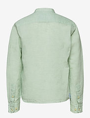 Hackett London - HALF PLACKET LINEN B - overhemden - mint - 1