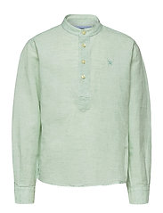 HALF PLACKET LINEN B - MINT