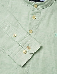 Hackett London - HALF PLACKET LINEN B - overhemden - mint - 2