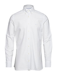 SLIM WASHED OXFORD - WHITE