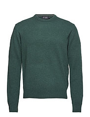 LAMBSWOOL CREW - 682FOREST GREEN