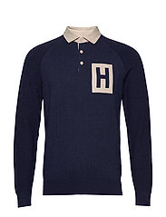 ARCHIVE KNITTED RUGBY - 595NAVY