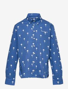 PALM TREE PRINT Y - shirts - sky/white