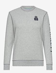 HRR HKT CREW W - sweatshirts - 933grey marl