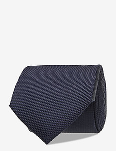 HACKETT SOLID TIE - ties - navy