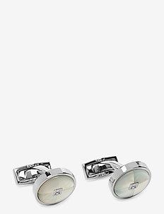 ROUND STONE QUARTERS - manschettknappar - 5arblue/white