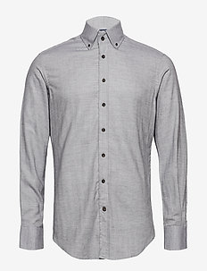 MYF FLANNEL HBONE - chemises business - 979steel grey