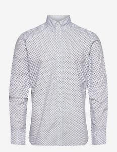 TURTLE PRINT - basic shirts - white/navy