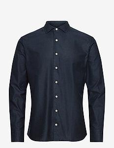 PLAIN GIRO INGLESE - basic shirts - navy