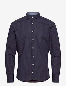 INK DOBBY MT - basic shirts - navy