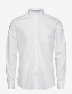 WHITE OXF ENG STR KS - basic skjorter - white
