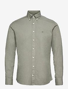 GARMENT DYE OXFORD - basic skjortor - sage