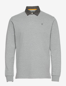 REFINED RUGBY - long-sleeved polos - grey