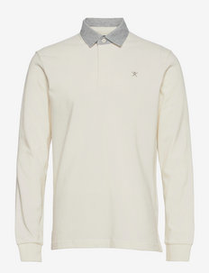 REFINED RUGBY - polos à manches longues - white
