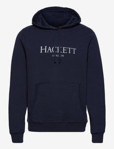 HACKETT LDN HOODY - sweats à capuche - blue