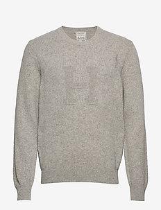 H INTARSIA CREW - basic knitwear - 933grey marl