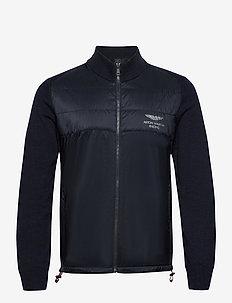 AMR KNTD TRACK FZIP - basic-sweatshirts - navy