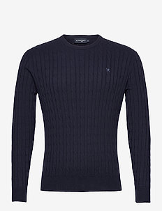CLASSIC CABLE CREW - tricots basiques - navy