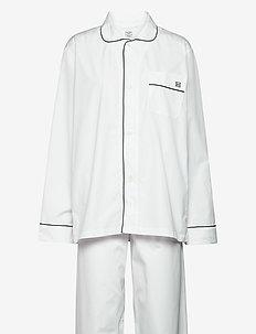 2PLY POP LONG PJ - pyjamat - 800white
