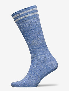 LINEN STRIPED SOCK - reguläre strümpfe - 551blue