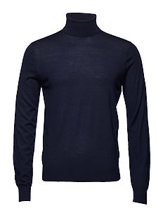 FN GG MERINO ROLL NECK - NAVY