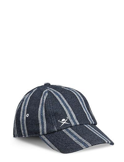 CHALK STRIPE CAP - 595NAVY