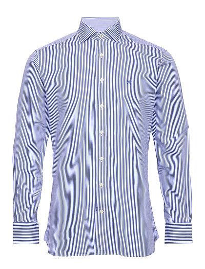 Bengal Str Ks Hemd Business Blau HACKETT