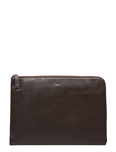 PEBBLE LGE DOC WALLET - 878BROWN