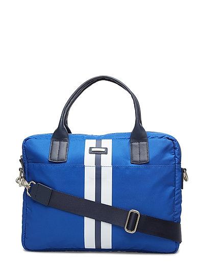 Hurlingham Single Doc Schultertasche Tasche Blau HACKETT LONDON