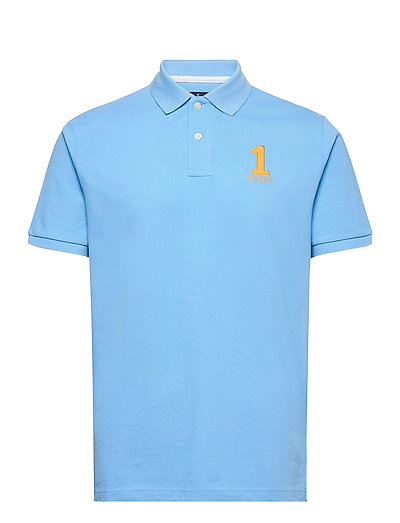 New Classic Ot Polos Short-sleeved Blau HACKETT LONDON   HACKETT SALE