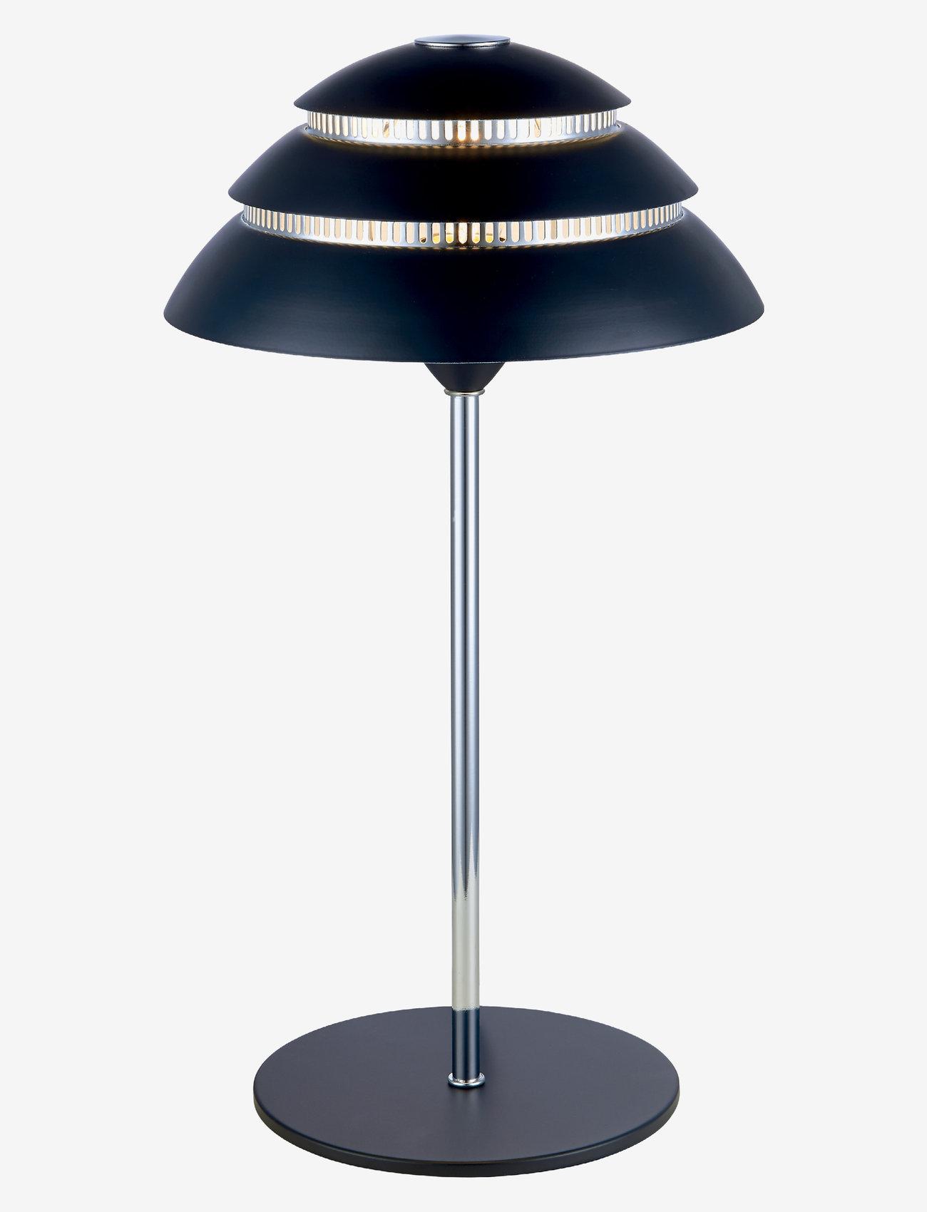 Halo Design - SHELLS - bordlamper - black, chrome - 0