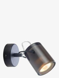 DELIGHT - vegglamper - black, smoke