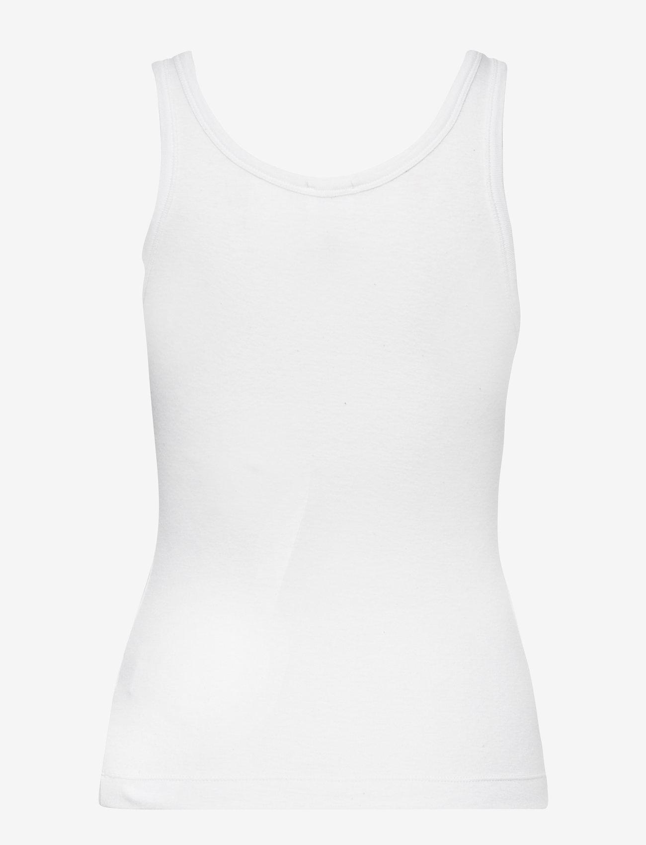 hálo - TUNDRA rib top - t-shirt & tops - white - 2