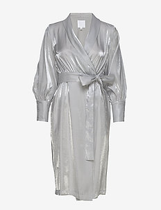 KAAMOS wrap dress - FROST WHITE