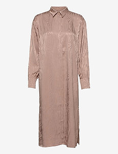 Kaarna long shirt dress - skjortklänningar - sand
