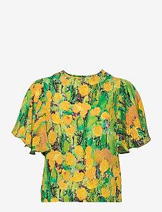 REIDAR frill shirt - lyhythihaiset puserot - multicolor