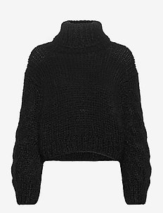 KAARNA handknitted turtleneck - turtlenecks - black
