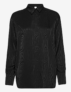 KAARNA collar shirt - pitkähihaiset puserot - black