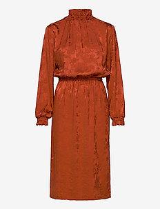 RUSKA midi dress - midimekot - copper