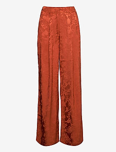 Ruska wide pleat pants - uitlopende broeken - copper