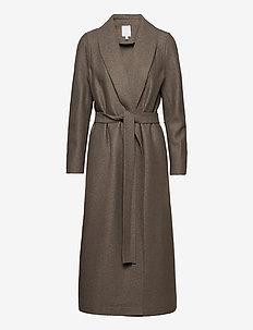 TUNDRA woolen coat - villakangastakit - taupe