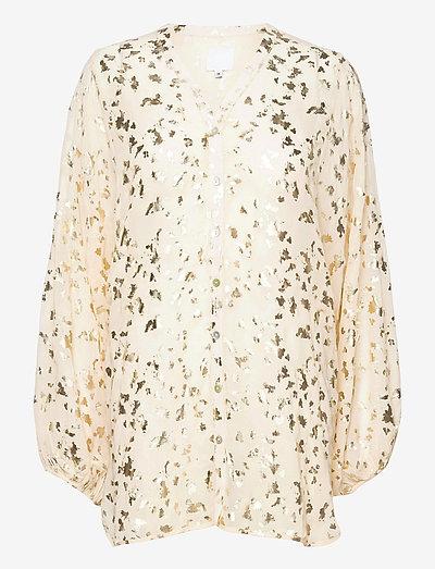 PETRONELLA chiffon blouse - langärmlige blusen - cream
