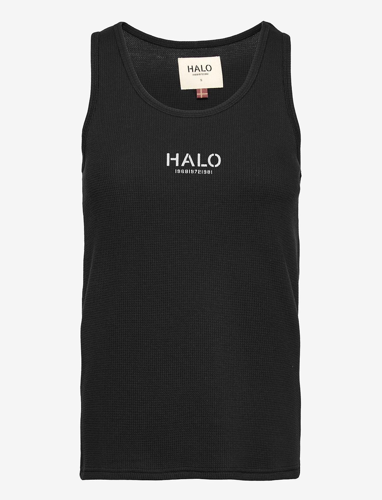 HALO - HALO WOMENS WAFFLE TANK - Ärmellose tops - black - 0