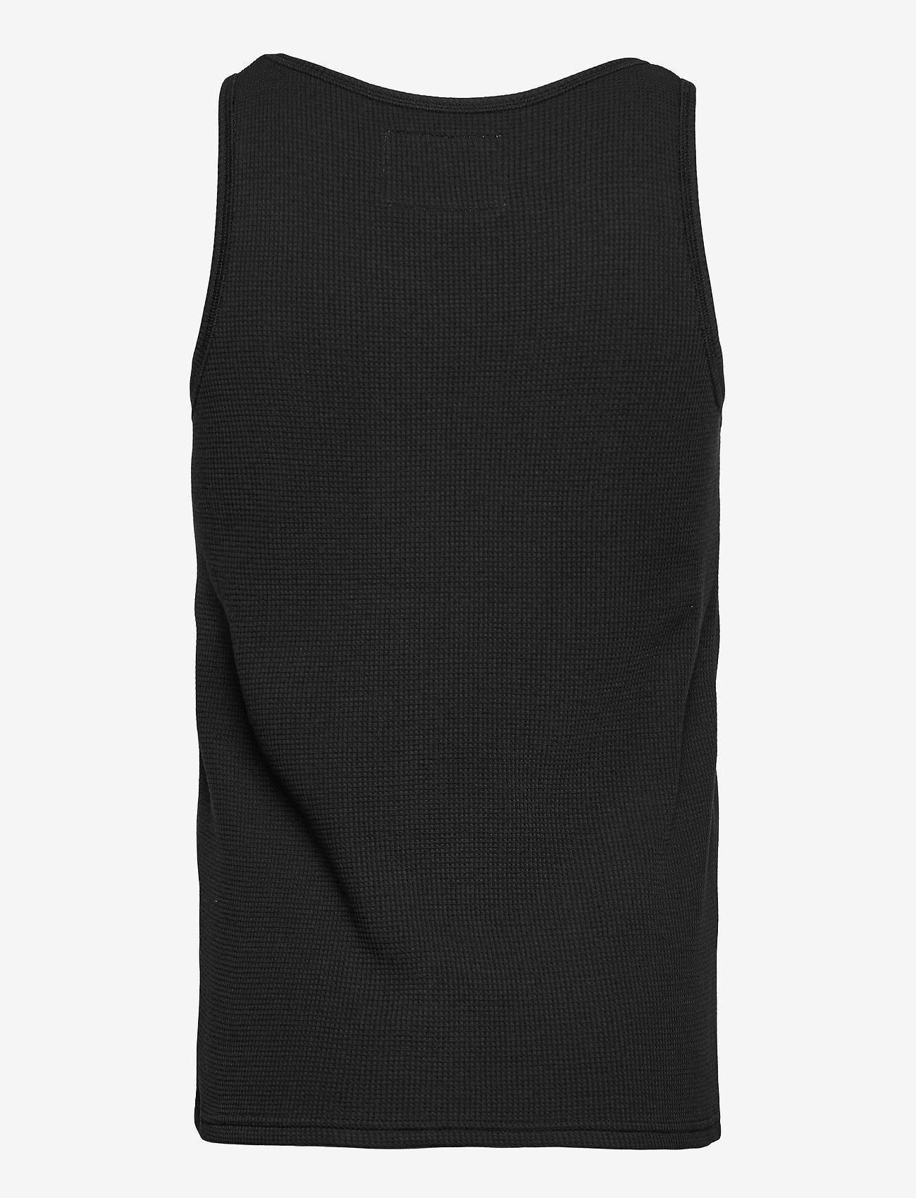 HALO - HALO WOMENS WAFFLE TANK - sleeveless tops - black - 1
