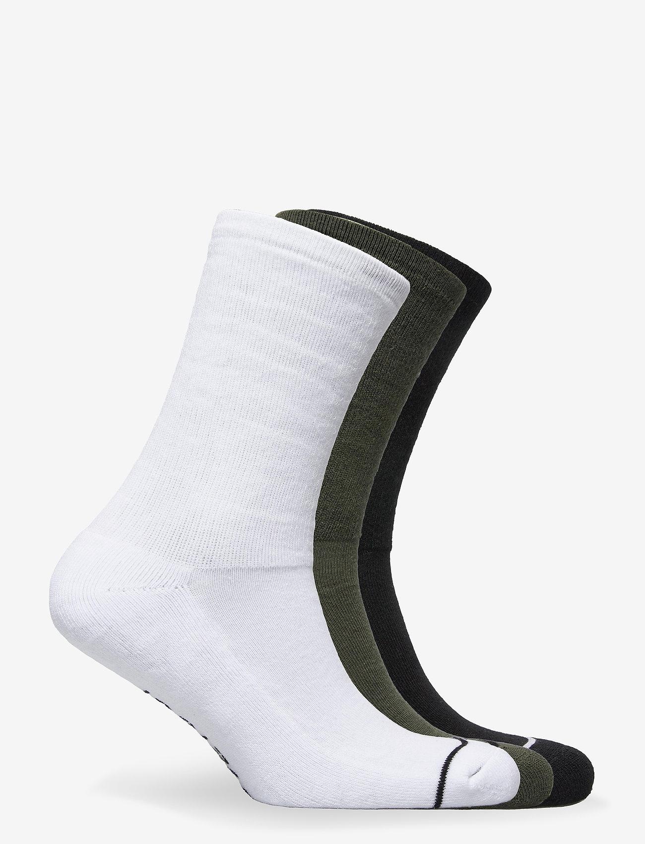 HALO - HALO Logo Socks 3-pack - tavalliset sukat - black/optic white/dark army - 1