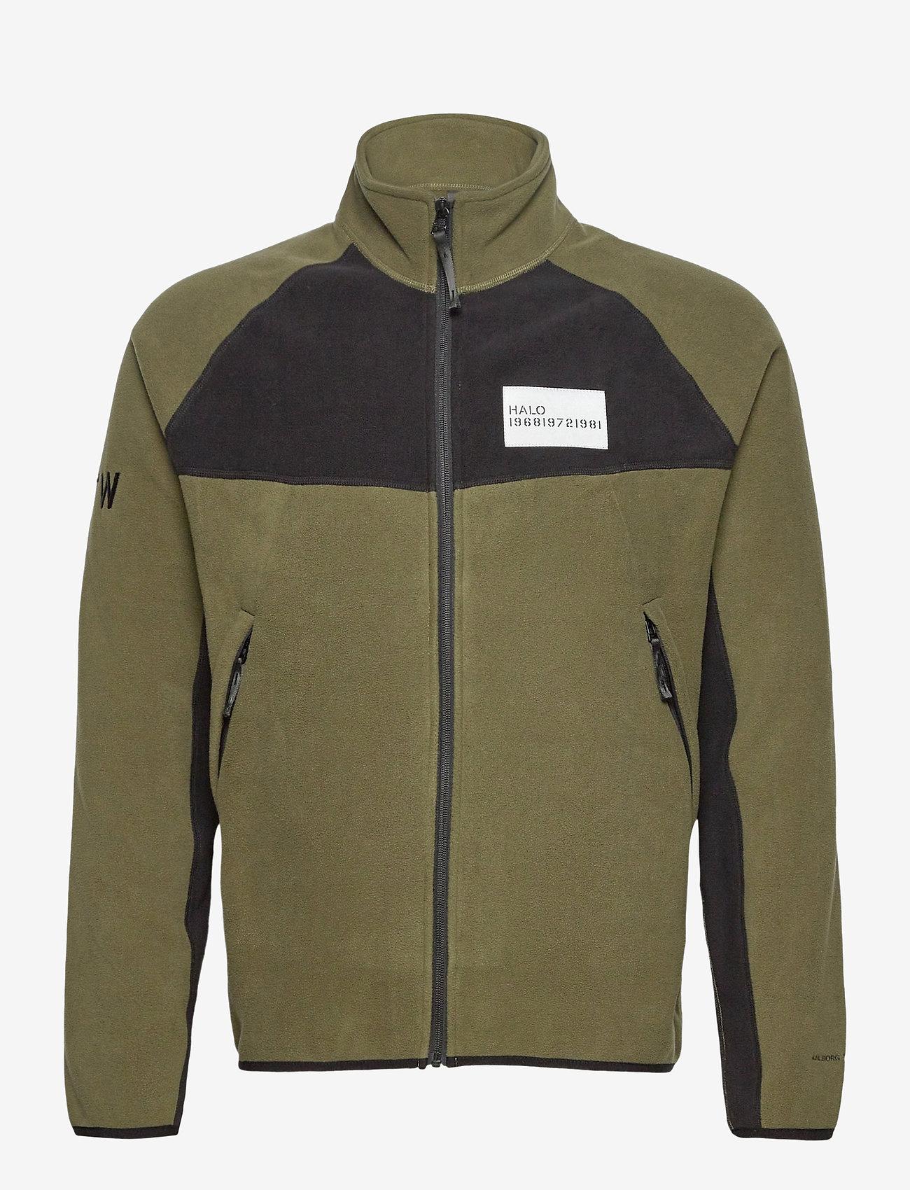 HALO - HALO ATW Zip Fleece - basic-sweatshirts - olive night - 0