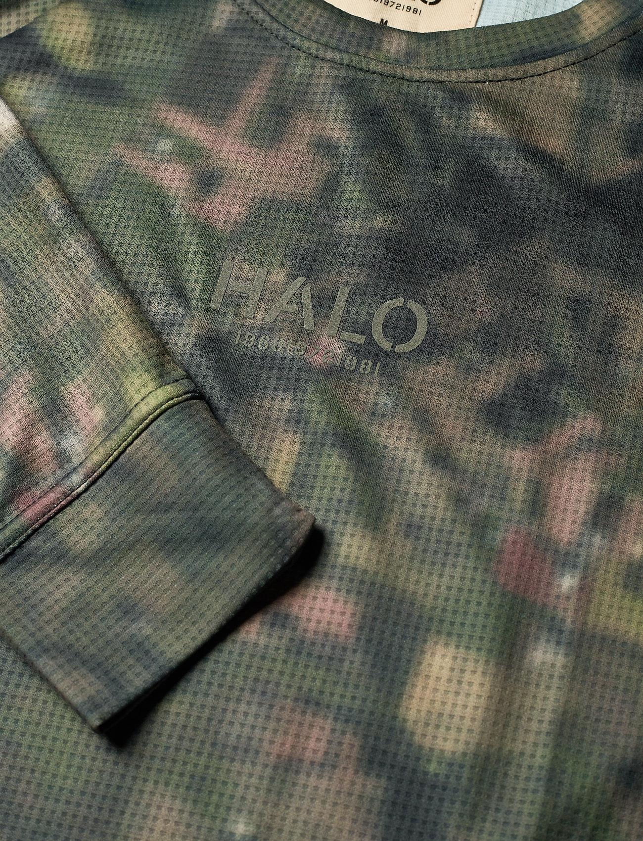 HALO HALO Camo Longsleeve - T-skjorter AOP GREEN CAMO - Menn Klær