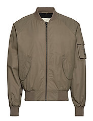Halo Bomber Jacket - STONE GREY